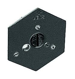 Hexagonal Qr Mntg Plate 1/4-20 Flush