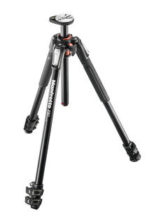 190 aluminium 3-section tripod, with horizontal column