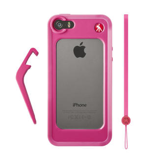 BUMPER POUR IPHONE 5/5S ROSE + CHEVALET + DRAGONNE
