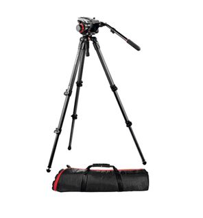 KIT TREPIED CARBONE 535K AVEC ROTULE VIDEO 504HD ET SAC