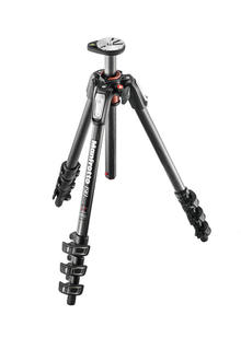 190 carbon fibre 4-section tripod, with horizontal column