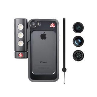 KIT BUMPER NOIR POUR IPHONE 5/5S + LED + OPTIQUES