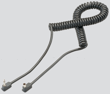 Coiled PC Cord With Submini End