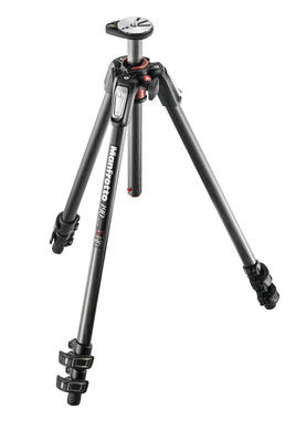190 carbon fibre 3-section tripod, with horizontal column