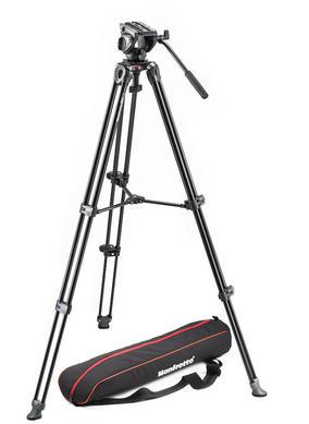 Lightweight fluid video system / twin legs / middle spreader
