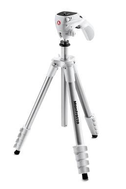Compact Action (Weiss): Stativ-Set, Foto-Videokopf +Tasche