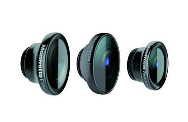 Set of 3 lenses (fisheye, portrait 1.5X,wideangle)