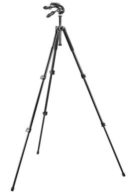 Kit: 293 alu tripod (3S) + 3-way head w. foldable handles