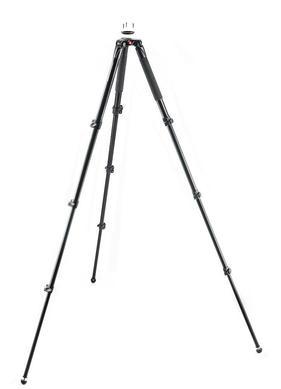 Aluminum Single Leg Video Tripod, 3 risers, 75-60mm ball