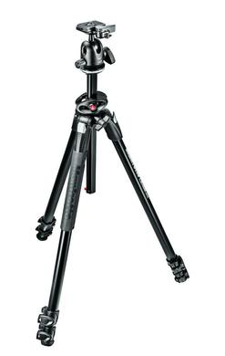 290 DUAL Kit, Alu 3 sec. tripod w/ 90°column and ball head