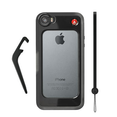 Black Bumper for iPhone 5/5S + kickstand + hand-wrist strap