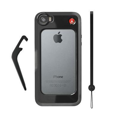 Black Bumper for iPhone 5/5S + kickstand + hand-wrist strap