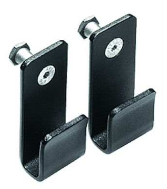Narrow 'U' Hooks set of two cross bar holders 15mm
