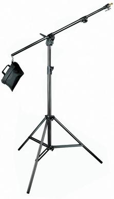 Black Combi-Boom Stand, 3-Section Stand with sand bag