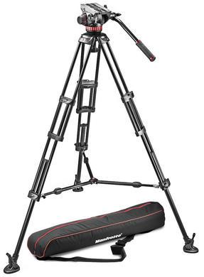 Set: MVH502A Videokopf, 546BK Stativ und Tasche