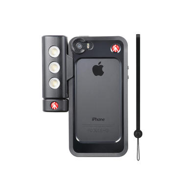 Kit per iPhone 5/5s con luce led e bumper nero