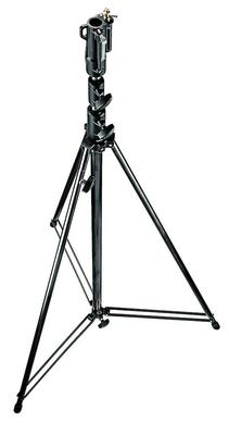 12' Black Chrome Plated Steel Stand w/Leveling Leg