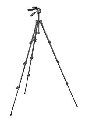 Kit: 293 carbon tripod (4S) + 3-way head w. foldable handles