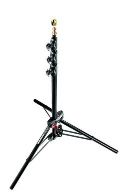 Black Alu Mini Compact Stand AC 6'9'' 4 Sections, 3 Risers