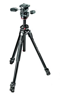 290 DUAL Kit, Alu 3 sec.  tripod w/ 90°column and 3W head