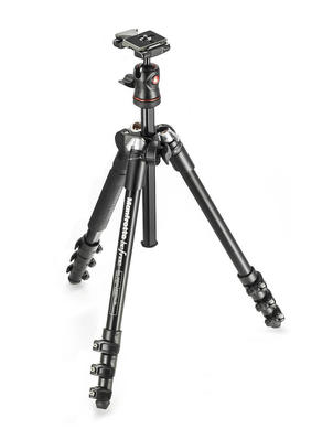 Compact lightweight tripod for travel photography