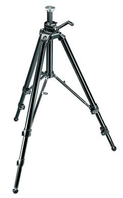 Aluminum Pro Geared Tripod with Geared Column - Black