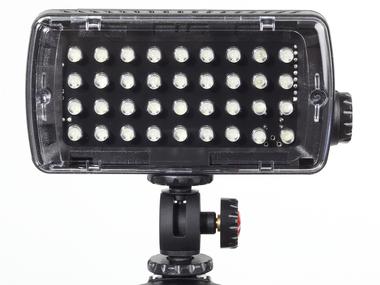 LED Light - Midi-36 Hybrid+ (420lx@1m), Dimmer, Flash, Gels
