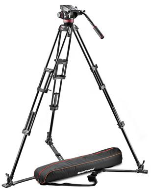Professional fluid video system/ aluminum / ground spreader