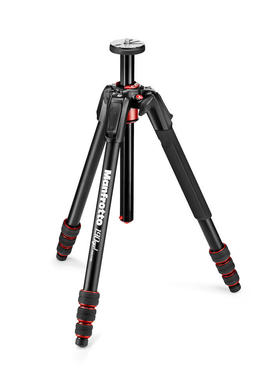 190 Go! Aluminum 4 Section Tripod with Twist Locks Black
