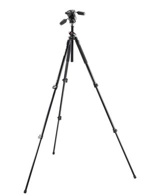 tall 3-section aluminium Q90 tripod + 804RC2 QR 3way head