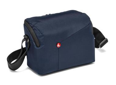 Blue Shoulder Bag for DSLR camera with additional lens
