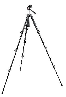 293 Compact Aluminum 4 Section Tripod with QR 3 Way Head