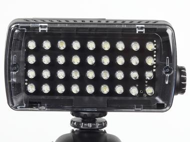 LED Light - Midi-36 Hybrid (420lx@1m), Dimmer, 4x Flash