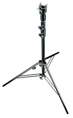 3-Section Black Alu Senior Stand with Leveling Leg