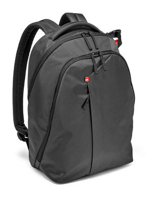 Grey Backpack for DSLR camera, laptop and personal gear