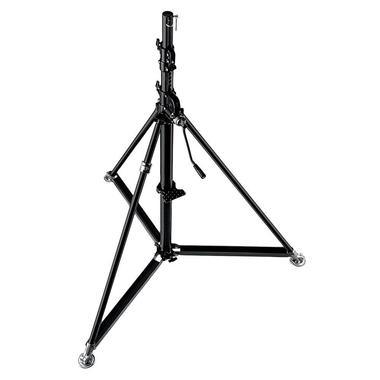 Super Wind Up Black Steel Stand-Black 61.4''x144.1