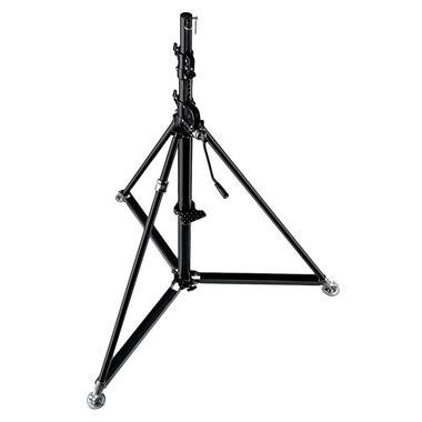 Super Wind Up Black Steel Stand-Black 61.4''x144.1
