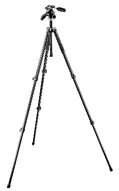 294 Aluminum 3 Section Tripod with 3 Way Photo/Video Head