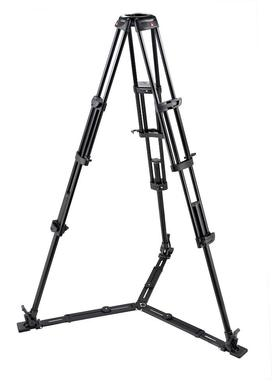 Video-Pro.Stativ mit 100 mm Halbschale und Bodenspinne