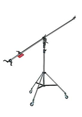 Black Super Boom w/008Bu 2-Section Black Alu Stand w/Casters