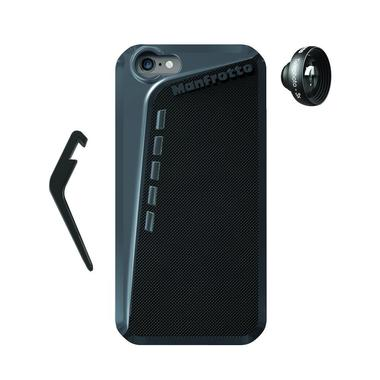 Black Case for iPhone 6 + kickstand + Telephoto 3x lens