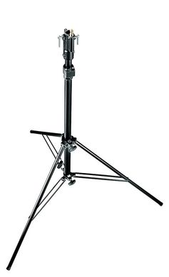 Blk.Self-Locking 2-Sect. Air Cush. Cine Stand w/Leveling Leg