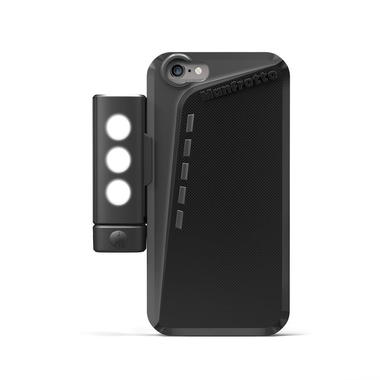 Black Case for iPhone 6 + SMT LED light with tripod mount