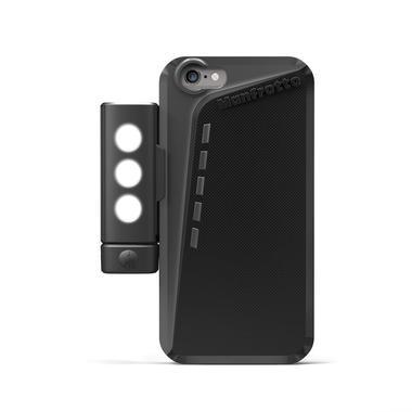 Black Case for iPhone 6 + SMT LED light with tripod mount