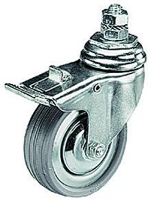 Wheel Set of 3 (75mm) w/Brakes & M10 Attachment