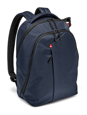 Blue Backpack for DSLR camera, laptop and personal gear