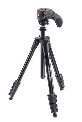 Compact Action (Schwarz): Stativ-Set, Foto-Videokopf +Tasche