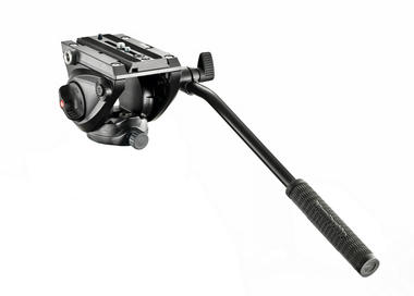 Lightweight fluid video head with flat base (5kg payload)
