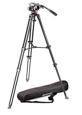 Professional Fluid Video System/Aluminum/Telescopic Twin Leg