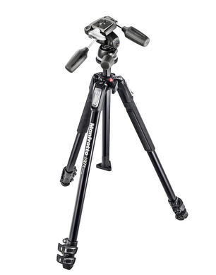 190X kit - alu 3-section tripod + 804RC2 3 way head